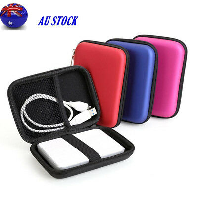 "Portable 2.5"" HDD Hard Disk Drive Package Headset Pouch Bag Mobile Power Pack"