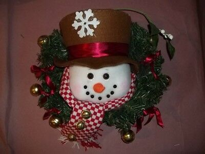 SINGING SNOWMAN WREATH (Motion Activated)