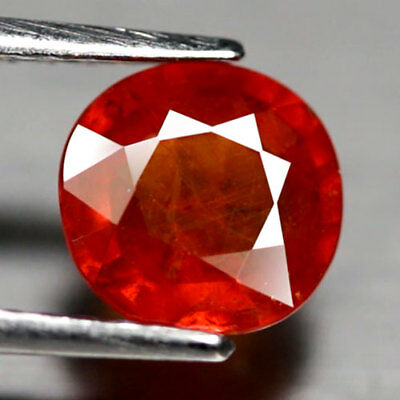 Aaa - Spessartite Garnet Ct 2.03 Oval Orange Color Cut Origin Namibia Africa