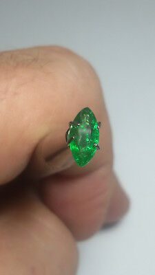 Aaa - Natural Tsavorite Garnet Ct 1.00 Si Top Green Marquise Cut Origin Tanzania