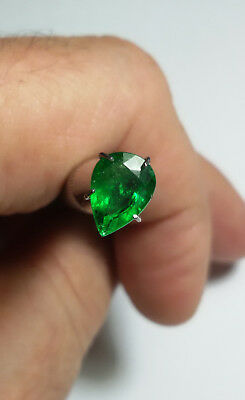 Aaa - Natural Tsavorite Garnet Ct 1.80 - Si - Top Green Pear Cut Origin Tanzania