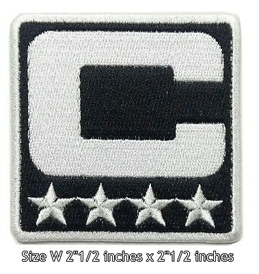 d06604eb BLACK CAPTAIN NFL Football Sport Patch Logo Embroidery Iron,Sewing on Fabric
