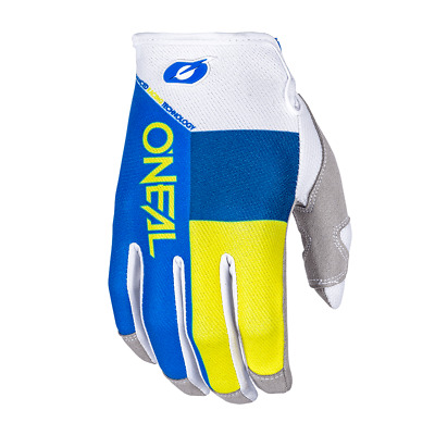 GUANTI O`NEAL MAYHEM GLOVE SPLIT BLUE/YELLOW taglia S/8 ADULTO husqv 0385-368 mx