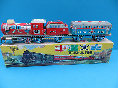 China MF 719 Train Friction vintage tin toy