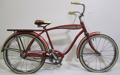 Vtg 50s-60s AMF Roadmaster Satellite Boys Red Cruiser Bicycle Bike For Repair