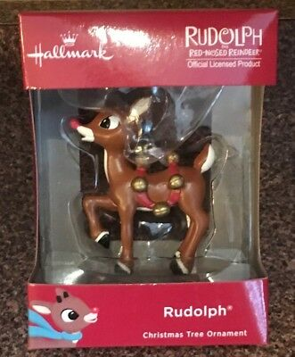 Hallmark ~ RUDOLPH THE RED-NOSED REINDEER ~ 2018 Red Box Christmas Tree Ornament