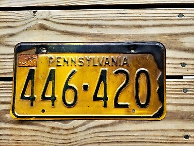 Pennsylvania License Plate Tag Number 446 420 Vintage Pa Marijuana Grass Pot
