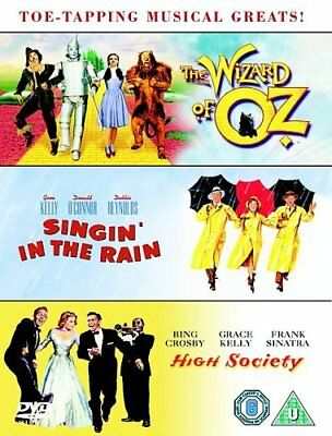 The Wizard of Oz / Singin' In The Rain /  High Society DVD Box Set Like New