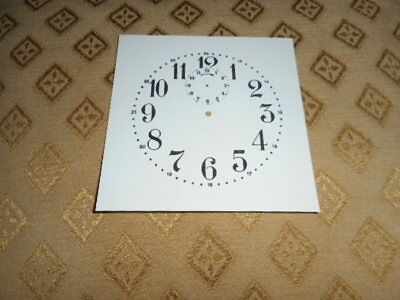 "Alarm Paper Clock Dial - 3 1/2"" M/T- Arabic - GLOSS WHITE - Part/ Faces/Spares"