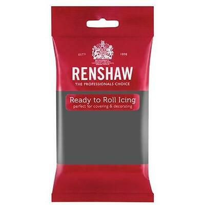 Renshaw Professional Sugar Paste Ready to Roll Icing - Grey - 250g