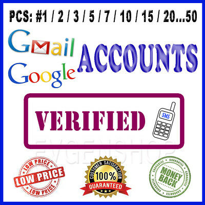 Google Account Gmail Verified by Phone Number Buy for Youtube Drive and SEO