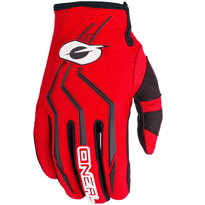 GUANTI Motocross O`NEAL ELEMENT GLOVE RED taglia L/9 enduro 0392-310 rosso-nero