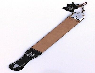 Professional Barber Leather Strop Straight Razor Sharpening Shaving Strap 17""