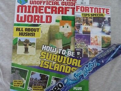 minecraft world magazine issue 38 + two free gifts fortnite tips special