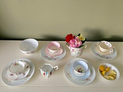 SERVICE FOR 4 TEA BREAKFAST LUNCHEON PARTY Mismatched VTG 16 Pc China England