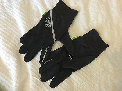 KARRIMOR XS/S REFLECTIVE LIGHTWEIGHT RUNNING GLOVES with KEY POCKET