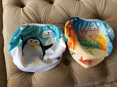 ALVABABY Reusable Swim Diapers Comfortable & Breathable Adjustable With Snaps