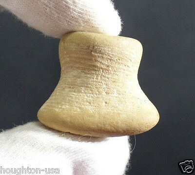 Ancient Choctaw Stone Ear Plug Spool from Tenn. Native American c. 1000-1200 AD
