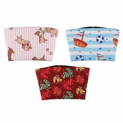 Lovely Print Coffee Cup Sleeve Drink Bottle Insulator Cup Non-slip Grip Cover IN