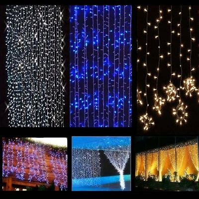 600 LED Fairy Curtain String light for Xmas Christmas Wedding Party Connectab RP