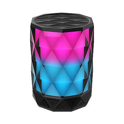 Portable Bluetooth Speakers With Lights Diamond Wireless LED Auto Color Changing