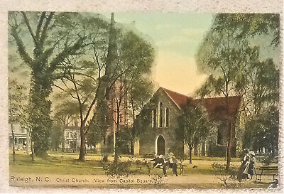 1910 Christ Church,View From Capitol Sq., Raleigh, NC Postcard  /  C1