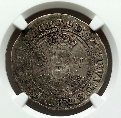 NGC VF. Edward VI of England. Shilling. Son of Henry VIII. British Silver Coin.