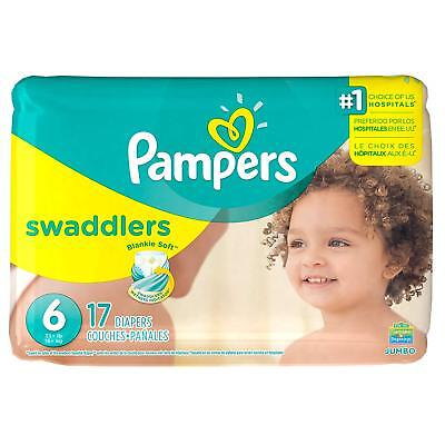 Pampers Swaddlers Disposable Diapers Size 6 - 17, 34, 51 and 68 Count JUMBO