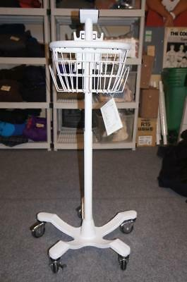 Welch Allyn Spot Vital Signs Lxi Patient Monitor 5-Leg Rolling Stand & Basket