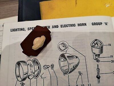 Luxor NOS vintage light switch Raleigh Mobylette Motobecane moped part MTP129