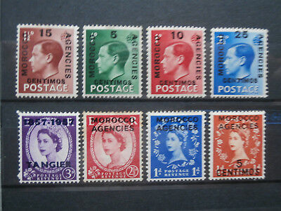Gb stamps overprinted Morocco Agencies mint hinged