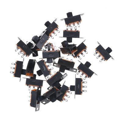 Black 20pcs 5V 0.3A SS12F32 Mini SPDT Slide Switch for Small DIY Power AD EC ODH