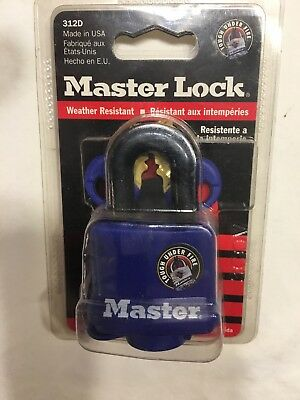 "Lot Of 2 MASTER LOCK Keyed Padlocks, Different,1-9/16""W, 312D"