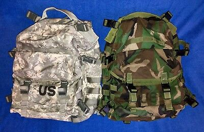 US Military Large Assault Pack Set of 2 Woodland and ACU