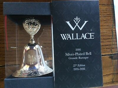 WALLACE 2016 Silver-Plated GRANDE BAROQUE BELL 22nd Edition NIB