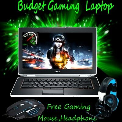 "Cheap gaming laptop Core i5 Dell Latitude 14.1"" Intel 2.5GHz  8GB 1TB Gaming"