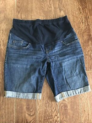 Old Navy 4 Maternity Denim Blue Jean Rolled Shorts