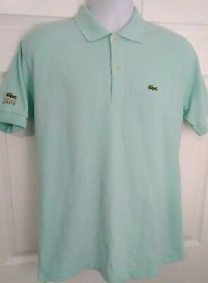 39017ca0 Chemise Lacoste Polo Shirt Short Sleeve Made in France Mens Teal Size XL