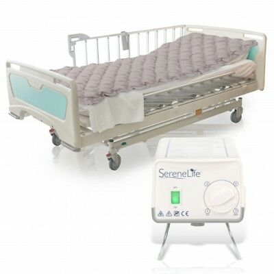 SereneLife Hospital Bed Air Mattress - Bubble Pad Mattress w/ Electric Air Pump