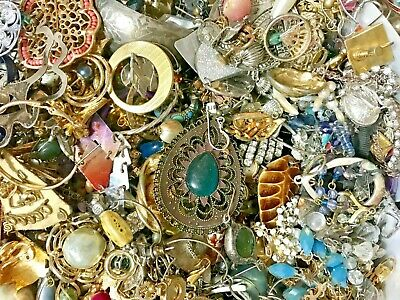 Vintage to Now 10 lbs  Costume Fashion Retro Jewelry  Lot  ALL WEARABLE