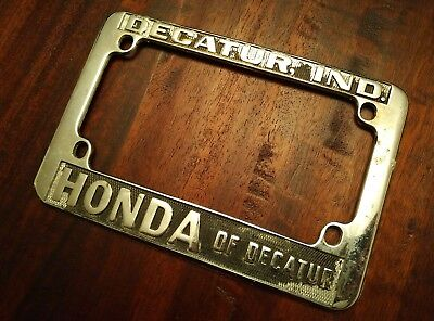Vintage Motorcycle License Plate Frame Honda of Decatur, Decatur Indiana