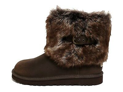 UGG Australia Big Kid's K ELLEE LEATHER Boots Chocolate 1008178K-CHO a