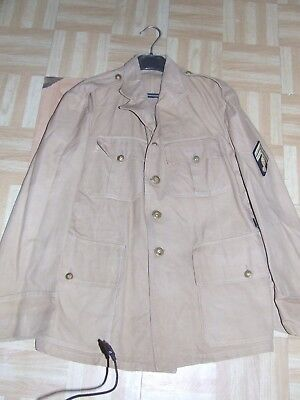 Ww2 indo Veste uniforme tropical sable gendarmerie   Militaria