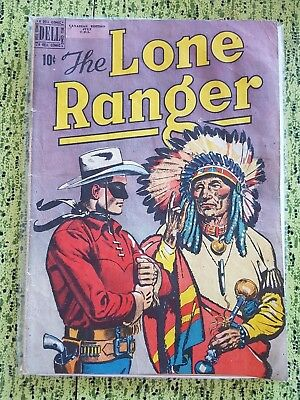 The Lone Ranger Vol. 1 #25 July 1950 Dell Comics Rare Canadian Edition