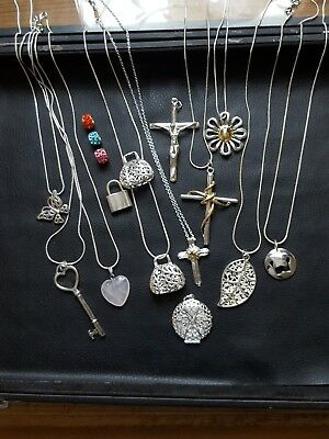 Joblot 925 Silver Necklaces x14 in Total