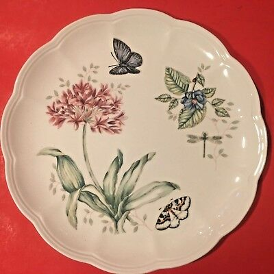 "6 Lenox China BUTTERFLY MEADOW DINNER PLATES EXCELLENT 11"" Free Shipping"