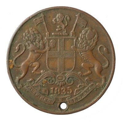 1835 East India British Company One Quarter 1/4 Anna Coin
