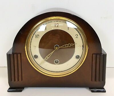 Art Deco Walnut Westminster Chiming Mantle Clock