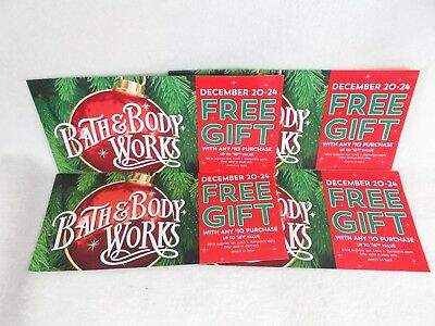 FOUR Bath and & Body Works coupons for gift up to $16.50 with $10 purchase