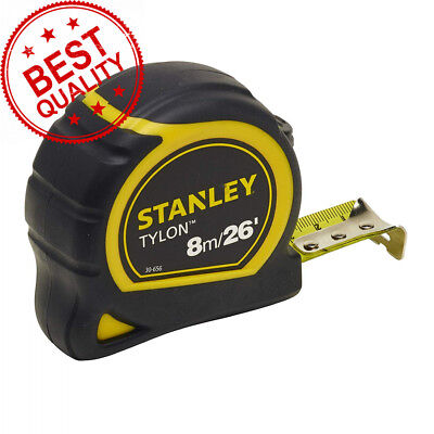 Stanley STA130656N Pocket Tylon Tape, 8 m/26 feet (25 mm) - Yellow and Black